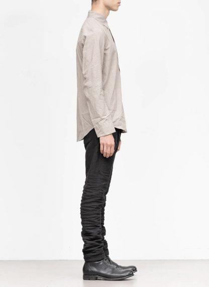 TAICHI MURAKAMI men inside shirt button down hemd FW1920 zimbabwe light cotton light grey hide m 4