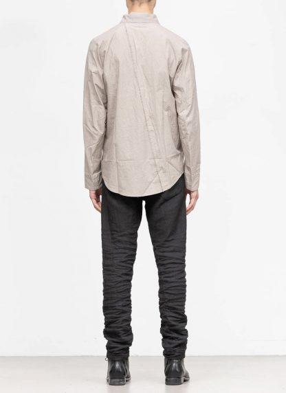 TAICHI MURAKAMI men inside shirt button down hemd FW1920 zimbabwe light cotton light grey hide m 5