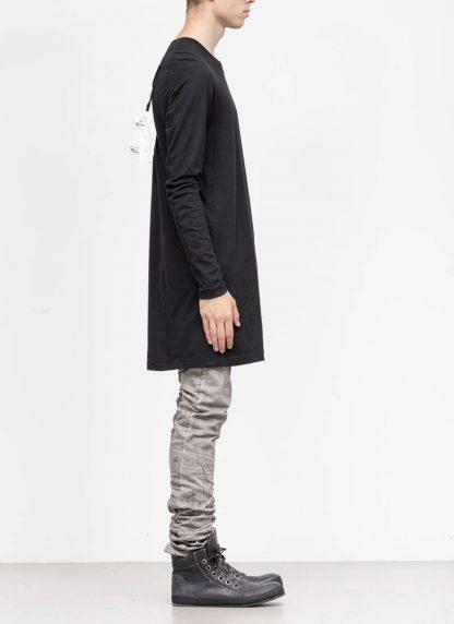 11byBBS BORIS BIDJAN SABERI FW1920 men long sleeve tshirt sweater longsleeve LS3 F1135 cotton black hide m 4