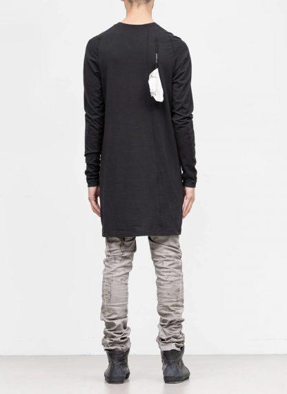 11byBBS BORIS BIDJAN SABERI FW1920 men long sleeve tshirt sweater longsleeve LS3 F1135 cotton black hide m 5