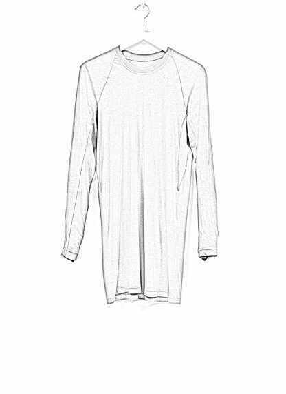 11byBBS BORIS BIDJAN SABERI FW1920 men long sleeve tshirt sweater longsleeve light weight LS3 F1101 cotton dark grey hide m 1