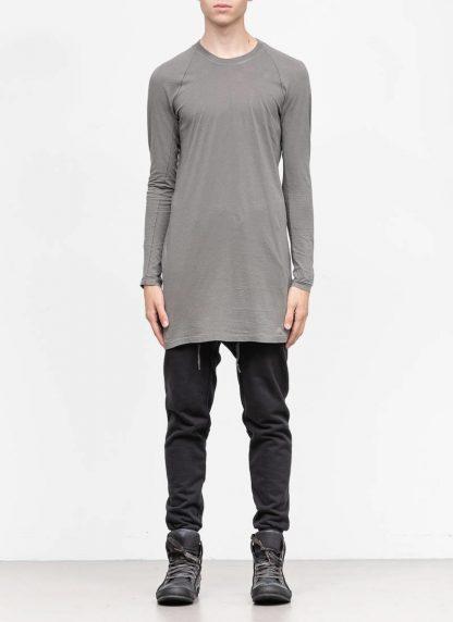 11byBBS BORIS BIDJAN SABERI FW1920 men long sleeve tshirt sweater longsleeve light weight LS3 F1101 cotton dark grey hide m 3