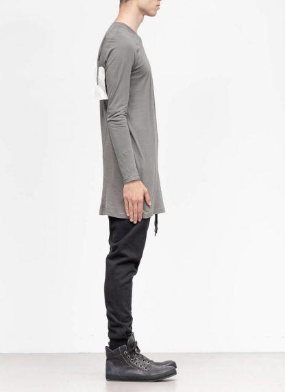 11byBBS BORIS BIDJAN SABERI FW1920 men long sleeve tshirt sweater longsleeve light weight LS3 F1101 cotton dark grey hide m 4