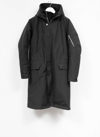 11byBBS Boris Bidjan Saberi FW1920 men parka winterparka J4 with zip F 1317 NY CO PES black hide m 2