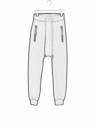 11byBBS Boris Bidjan Saberi FW1920 men sweatpants with zipper pants joggingpants P13 F1235 cotton black hide m 1