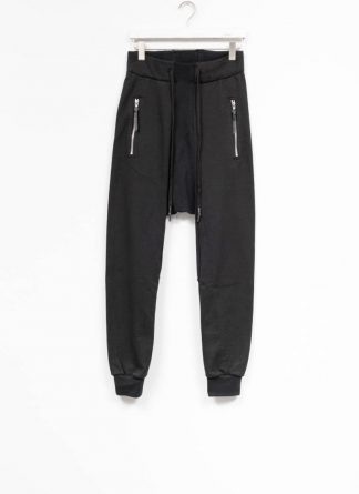 11byBBS Boris Bidjan Saberi FW1920 men sweatpants with zipper pants joggingpants P13 F1235 cotton black hide m 2