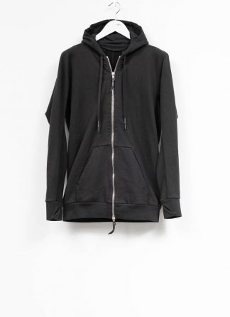 11byBBS Boris Bidjan Saberi FW1920 men zip sweater with hoodie jacket Z2B F1235 cotton black hide m 2