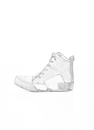 BORIS BIDJAN SABERI FW1920 men high top sneaker BAMBA1 herren schuh boot stiefel kangaroo leather light grey hide m 1