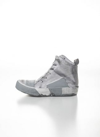 BORIS BIDJAN SABERI FW1920 men high top sneaker BAMBA1 herren schuh boot stiefel kangaroo leather light grey hide m 2