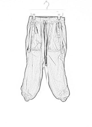 BORIS BIDJAN SABERI roots men pants herren hose jogger F092 cotton resin dyed patina grey hide m 1