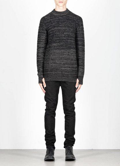 BORIS BIDJAN SABERI roots men round neck sweater herren pulli exclusively limited exclusive FPI30002 FPI30003 cashmere patina grey hide m 3