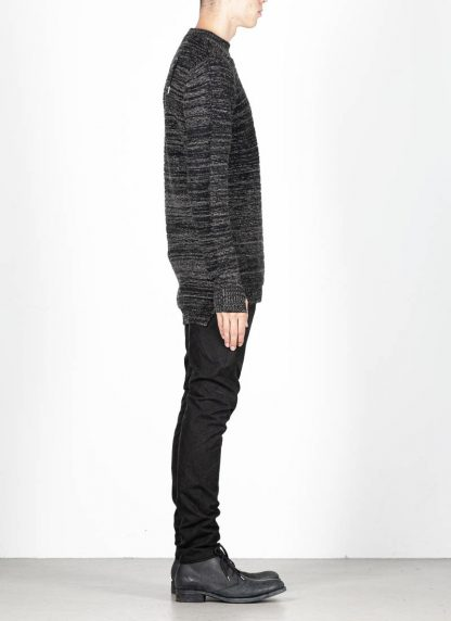 BORIS BIDJAN SABERI roots men round neck sweater herren pulli exclusively limited exclusive FPI30002 FPI30003 cashmere patina grey hide m 4