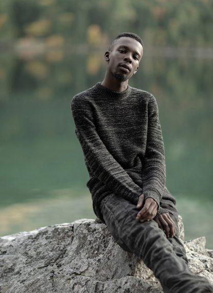 BORIS BIDJAN SABERI roots men round neck sweater herren pulli exclusively limited exclusive FPI30002 FPI30003 cashmere patina grey hide m 6