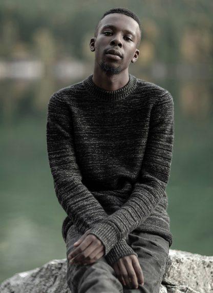 BORIS BIDJAN SABERI roots men round neck sweater herren pulli exclusively limited exclusive FPI30002 FPI30003 cashmere patina grey hide m 7