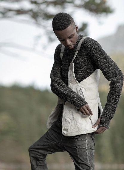 BORIS BIDJAN SABERI roots men round neck sweater herren pulli exclusively limited exclusive FPI30002 FPI30003 cashmere patina grey hide m 8