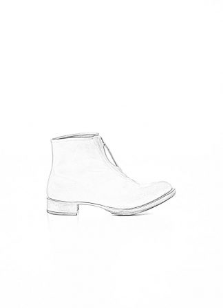 CHEREVICHKIOTVICHKI women front zip one piece ankle boot damen schuh stiefel 55AW19 bleached calf leather white hide m 1