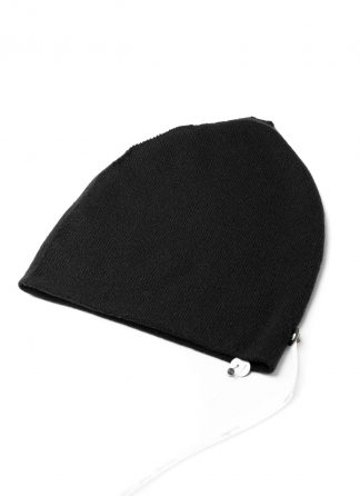LABEL UNDER CONSTRUCTION Cocoon Beanie Hat Mutze reversible men women unisex cashmere black hide m 2