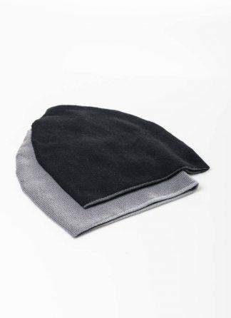 LABEL UNDER CONSTRUCTION FW1920 cocoon beanie 34YXAS262 men women unisex cashmere grey black hide m 2