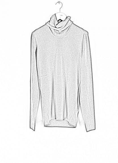 LABEL UNDER CONSTRUCTION men Punched Cylindric Neck Sweater herren high neck pulli 34YMSW224 WS16 RG 347 cashmere dark grey hide m 1