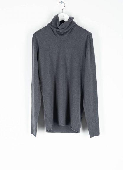 LABEL UNDER CONSTRUCTION men Punched Cylindric Neck Sweater herren high neck pulli 34YMSW224 WS16 RG 347 cashmere dark grey hide m 2