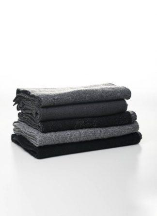 LABEL UNDER CONSTRUCTION scarf scarfs schal schals men women unisex pure cashmere silk grey black hide m 2