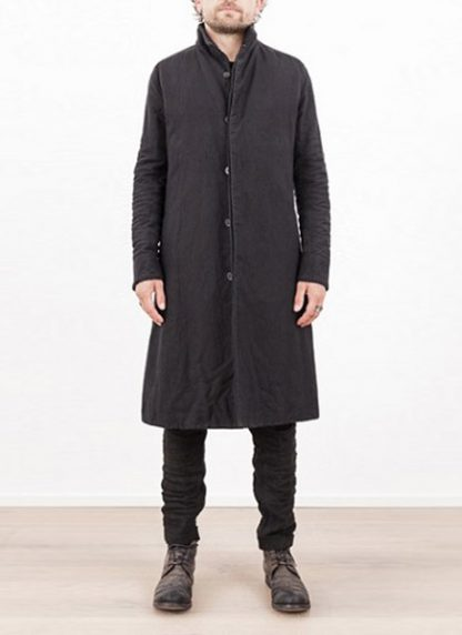 LAYER 0 MEN CLOTHING COAT H TRENCH 110M 17 38 WOOL COTTON BLACK hide m 2