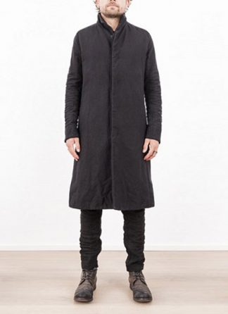 LAYER 0 MEN CLOTHING COAT H TRENCH 110M 17 38 WOOL COTTON BLACK hide m 3