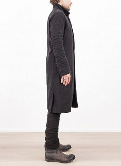 LAYER 0 MEN CLOTHING COAT H TRENCH 110M 17 38 WOOL COTTON BLACK hide m 4