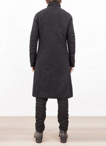 LAYER 0 MEN CLOTHING COAT H TRENCH 110M 17 38 WOOL COTTON BLACK hide m 5