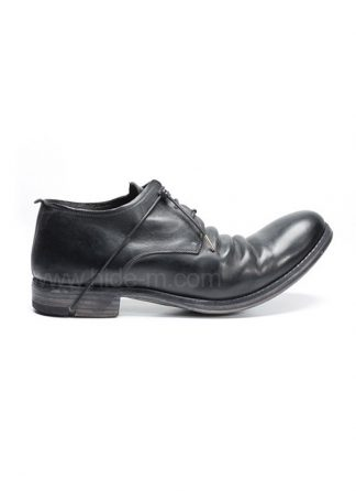 LAYER 0 SHOE DERBY 1 5 H7 GOODYEAR CORDOVAN FULL GRAIN BLACK HIDE M 2