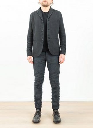LAYER 0 classic blazer JACKET black linen plus SS17 hide m 2
