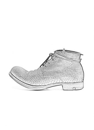 LAYER 0 lace up ankle boot women grey python FW1617 hide m 1
