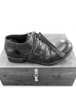 LAYER 0 limited hand made goodyear shoe derby 2.5 h7 black cordovan full grain hide m 1