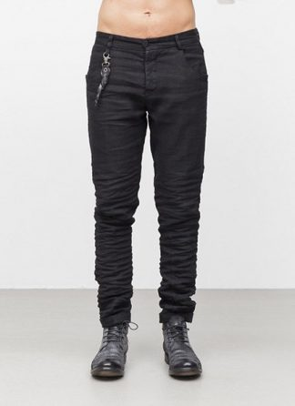 LAYER 0 men 5pocket pants 18 33 black linen plus fw1718 hide m 2