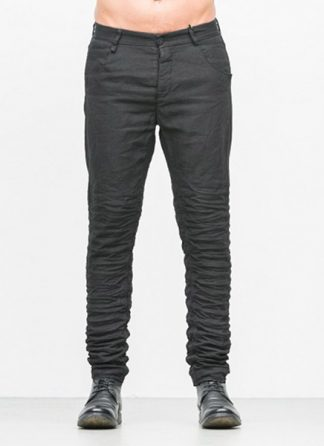 LAYER 0 men 5pocket pants 20 14 dark grey black linen plus hide m 2
