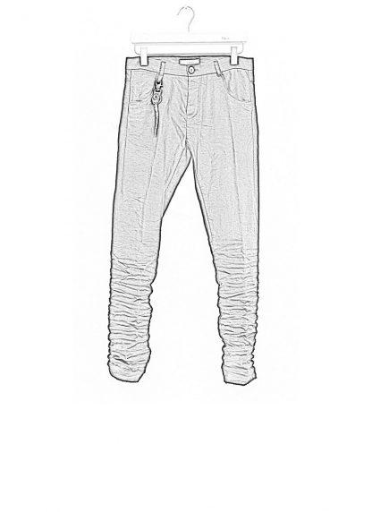 LAYER 0 men 5pocket pants black linen canvas FW1718 hide m 1