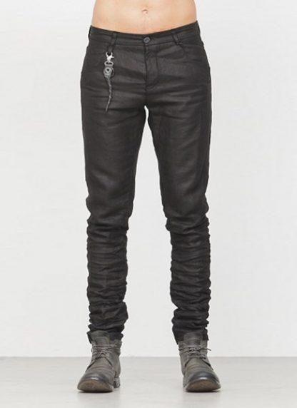 LAYER 0 men 5pocket pants black linen canvas FW1718 hide m 2