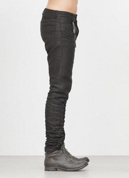 LAYER 0 men 5pocket pants black linen canvas FW1718 hide m 3