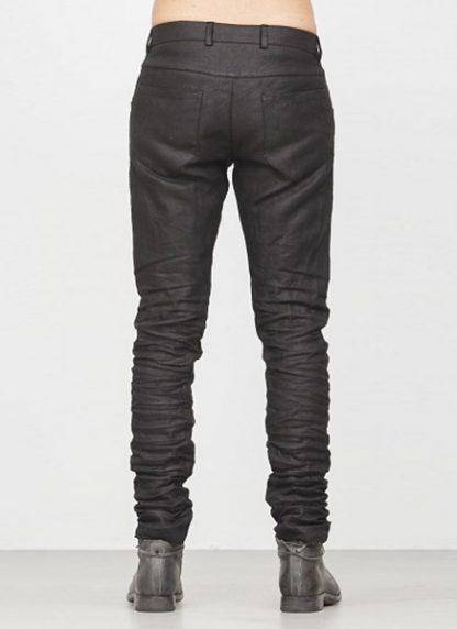 LAYER 0 men 5pocket pants black linen canvas FW1718 hide m 4