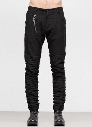 LAYER 0 men 5pocket pants hose 22 10 ramie black hide m 2