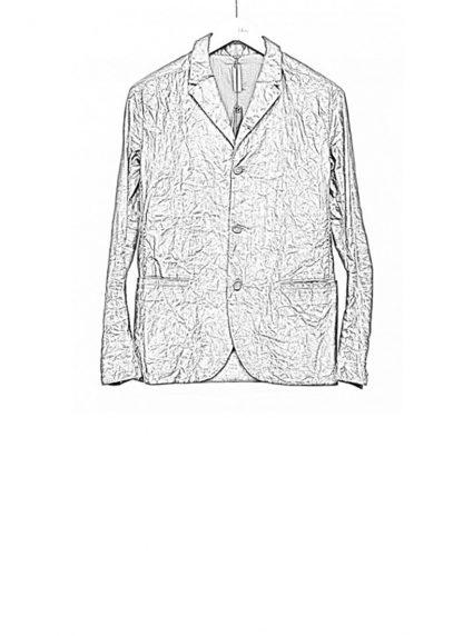 LAYER 0 men classic H blazer jacket 20 06 black calf leather hide m 1
