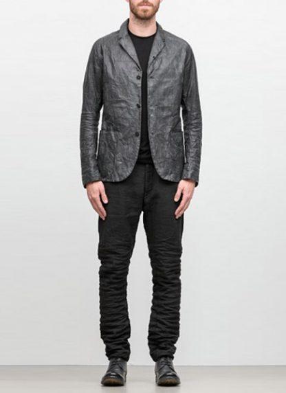 LAYER 0 men classic H blazer jacket 20 06 black calf leather hide m 2
