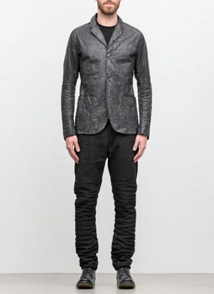 LAYER 0 men classic H blazer jacket 20 06 black calf leather hide m 3