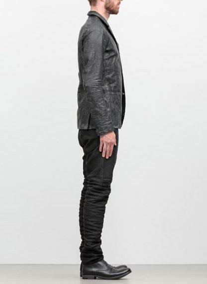 LAYER 0 men classic H blazer jacket 20 06 black calf leather hide m 4