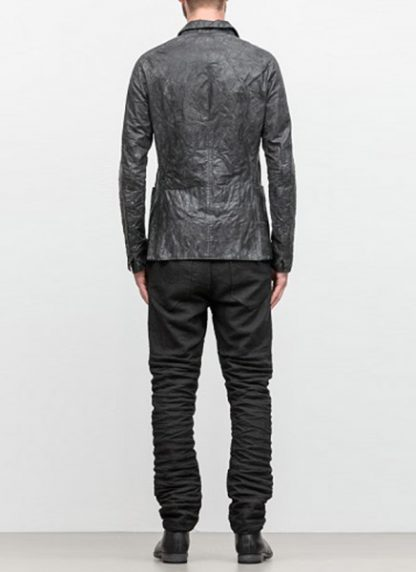 LAYER 0 men classic H blazer jacket 20 06 black calf leather hide m 5
