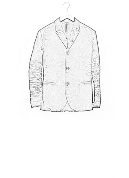 LAYER 0 men classic H blazer jacket 20 07 black cotton hide m 1