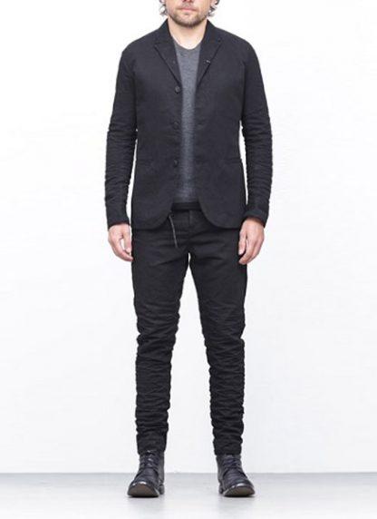 LAYER 0 men classic H blazer jacket 20 07 black cotton hide m 2