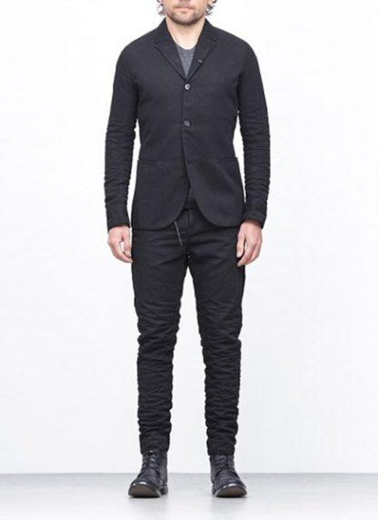 LAYER 0 men classic H blazer jacket 20 07 black cotton hide m 3