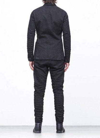 LAYER 0 men classic H blazer jacket 20 07 black cotton hide m 5