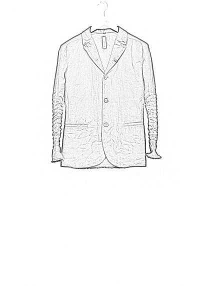 LAYER 0 men classic H blazer jacket 20 07 dark grey black linen plus hide m 1